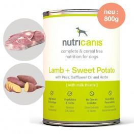 Nassfutter Hund Adult: 800g Lamm + Süßkartoffel mit Mariendistel