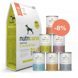 Hundefutter Kennenlernpaket Adult: Trockenfutter (3kg) & Nassfutter (je 800g)