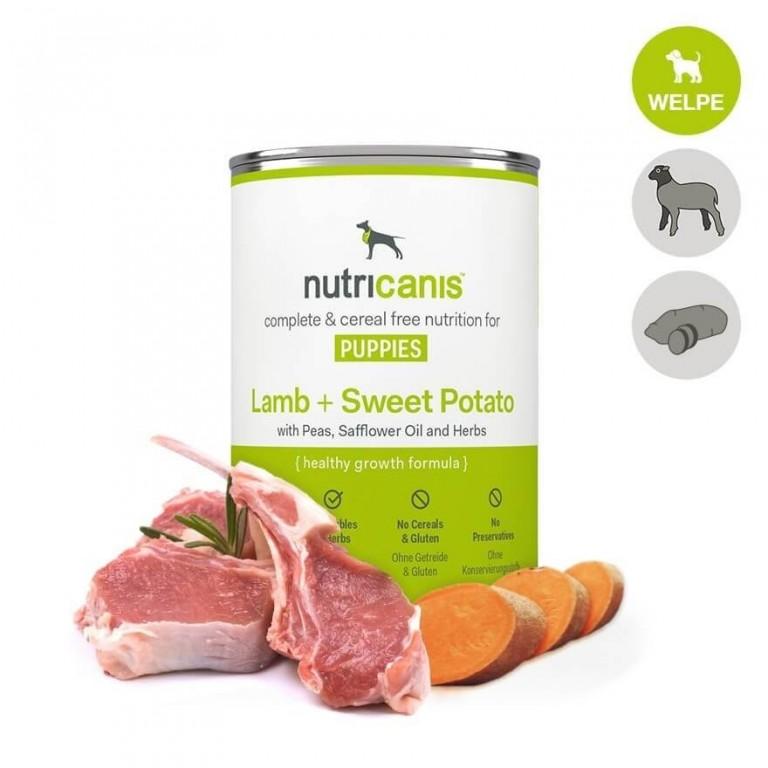 WELPENFUTTER Lamm + Süßkartoffel