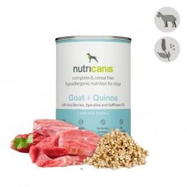 Hypoallergenes Nassfutter Hund Adult: 400g Ziege + Quinoa mit Mariendistel