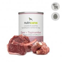 Hypoallergenes Nassfutter Hund Adult: 400g Hirsch + Topinambur mit Mariendistel