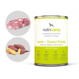 Nassfutter Hund Adult: Lamm + Süßkartoffel mit Mariendistel