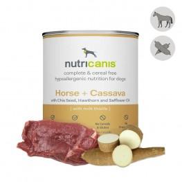 Nassfutter Hund Adult: 800g Pferd + Cassava mit Mariendistel