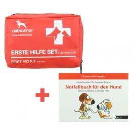 Set: Erste Hilfe Set + Notfallbuch für Hunde